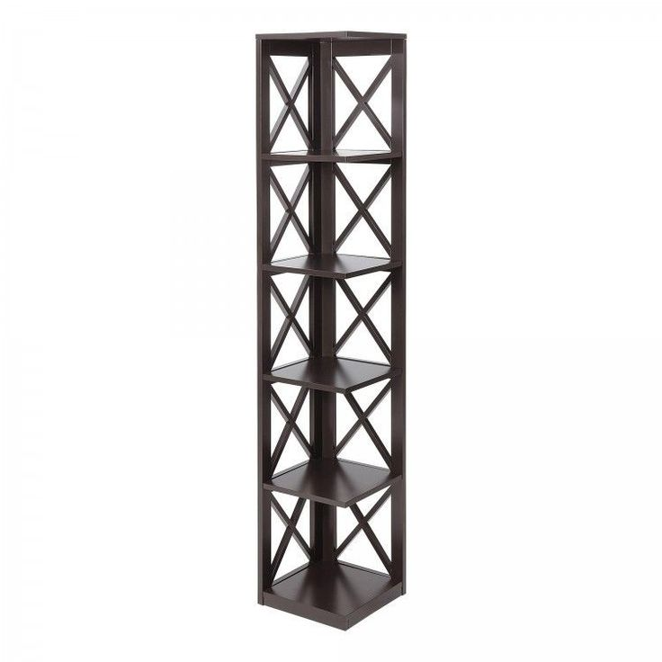 #ShoppingOnlineDeals #DanAnnStore #displaystand e Storage #Bookshelf #Corner #Display 5 Shelves Black Home Office Furniture #Contemporary
