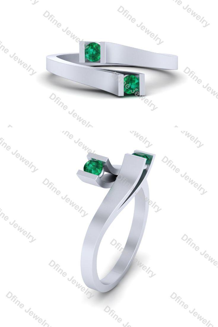 Simple Elegant Bypass Wedding Ring Womens Wedding Rings For