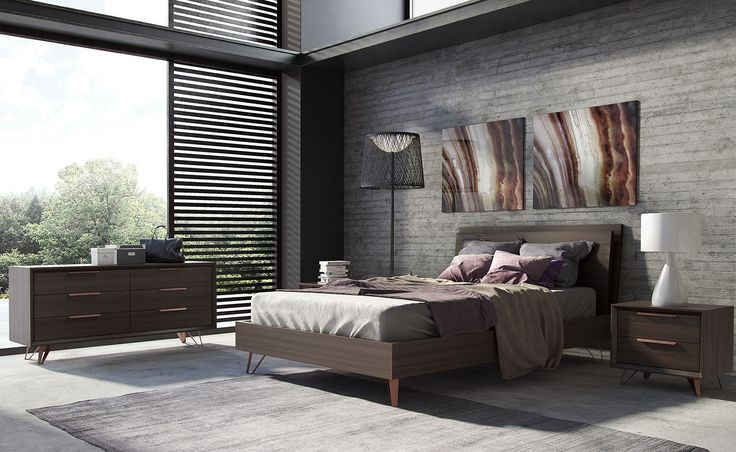 Grand Bed by Modloft. Available in Espresso, as shown, in Queen, King or Cal King.