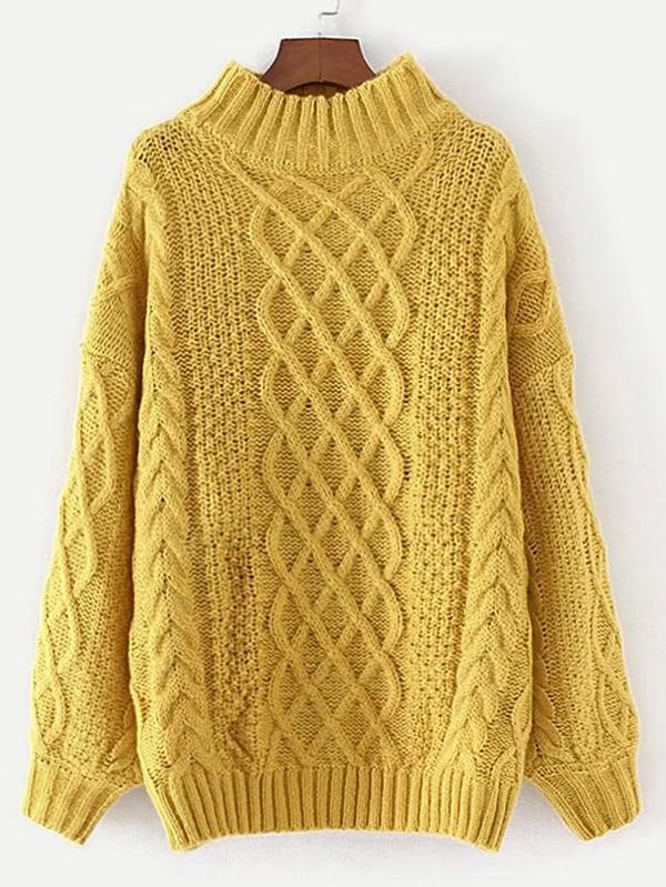 Shop Cable Knit Jumper Sweater online. SheIn offers Cable Knit Jumper Sweater & more to fit your fashionable needs.