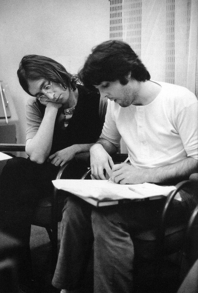 Paul McCartney with John Lennon by Linda McCartney