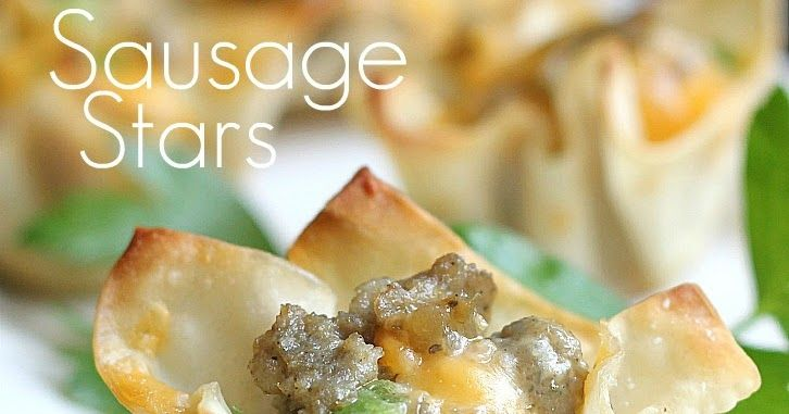 I have been wanting to share this appetizer recipe since Christmas.  It wouldn't be Christmas Eve dinner without Sausage Stars at our house...