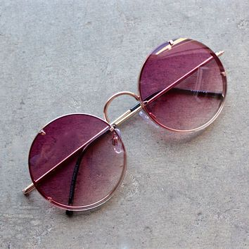 spitfire poolside in gold / purple gradient lens