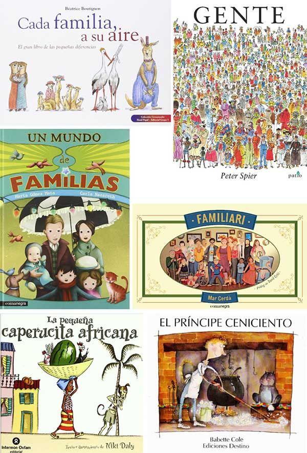 Recopilación de libros infantiles sobre la pluralidad de las personas.