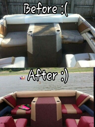 "Thank you Youtube for teaching me how to reupholster my boat!! The local upholstery shop wanted $3500+ to do it. F that! I spent approximately $300 on materials, watched YouTube videos to learn to sew, and how to wrap vinyl. A couple ""learning experiences"" later, and now it looks grrrrreat!"