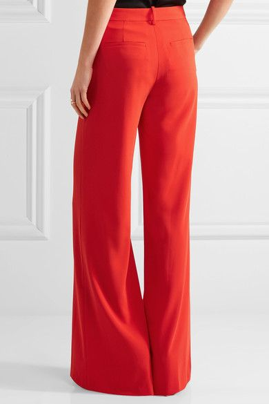Alice Olivia - Paulette Crepe Wide-leg Pants - Red - US8