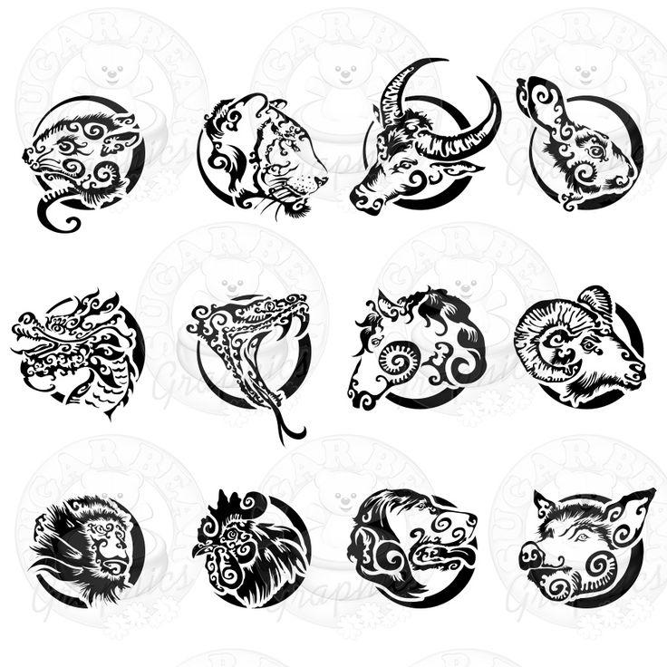 Chinese Zodiac 5 Left Sugarbear Graphics Powered By Cubecart ไอเด ยรอยส ก ห วกะโหลก รอยส ก