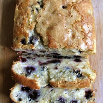 Blueberry Cream Cheese Bread (**Need to sub a few ingredients to make wheat belly friendly)