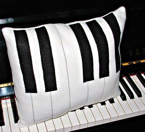 Almohadon Teclas de Piano Venta por Pedido