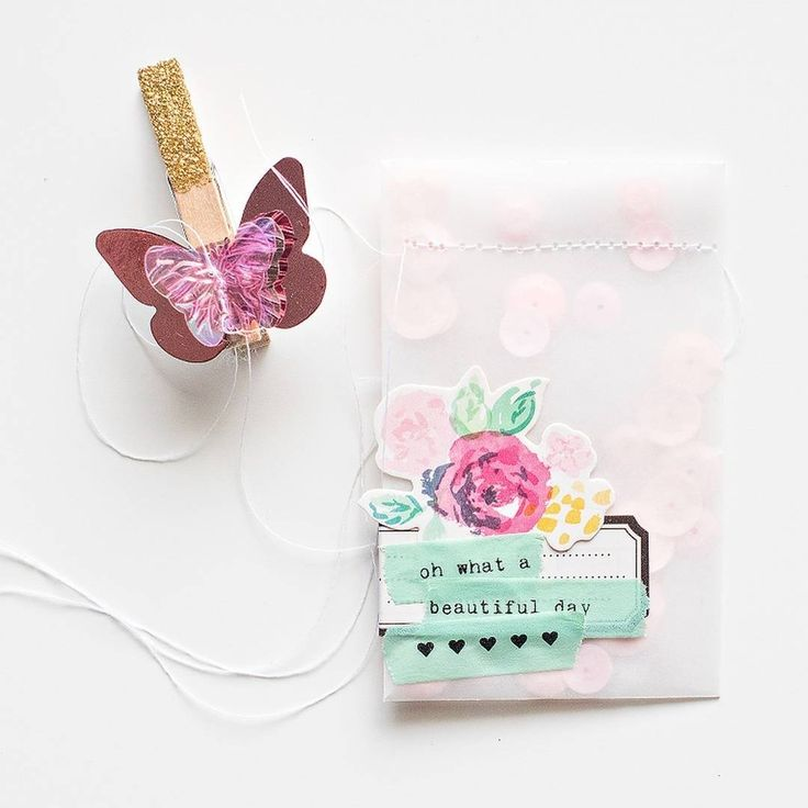 Do you love confetti? These cute, custom glassine bags would be perfect as favors! Check out the full project on Maggie's blog.  #cratepaper #MHconfetti