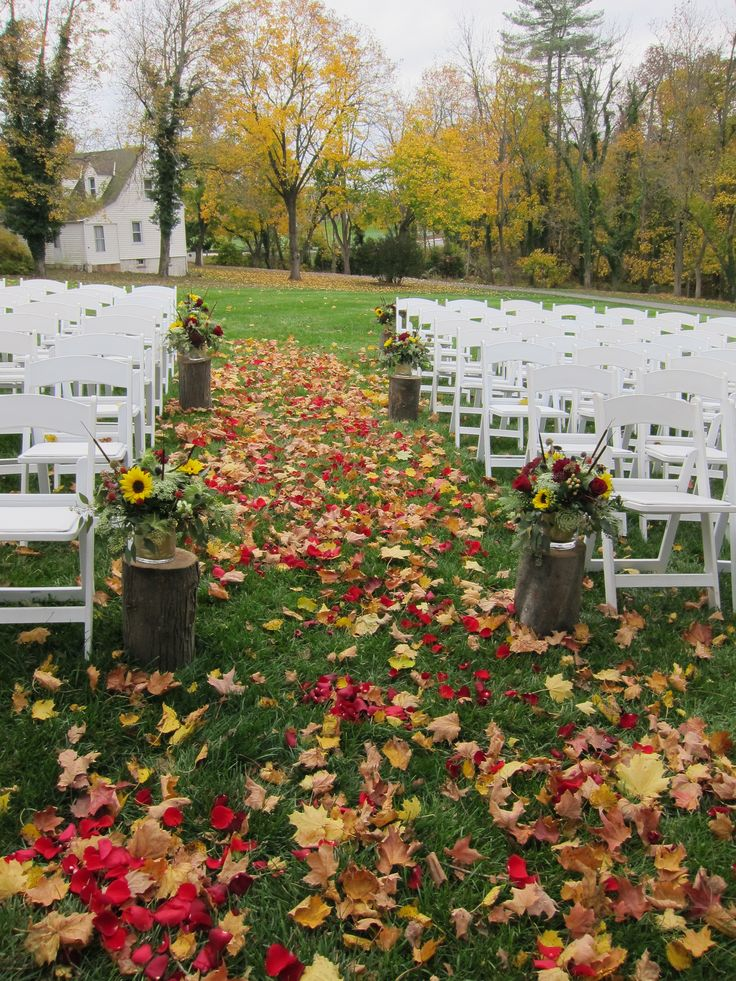 17 Best Images About Outdoor Autumn Wedding On Pinterest