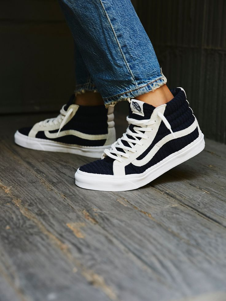 SK8-Hi Embossed Hi Top | Classic lace-up Vans sneaker in a high-top shape…