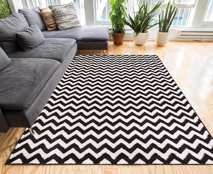 Modern Casual Geometric Area Rug X Easy To Clean Stain Fade Resistant Shed Free Contemporary Abstract Funky Fun Shapes Lines Living Dining Room