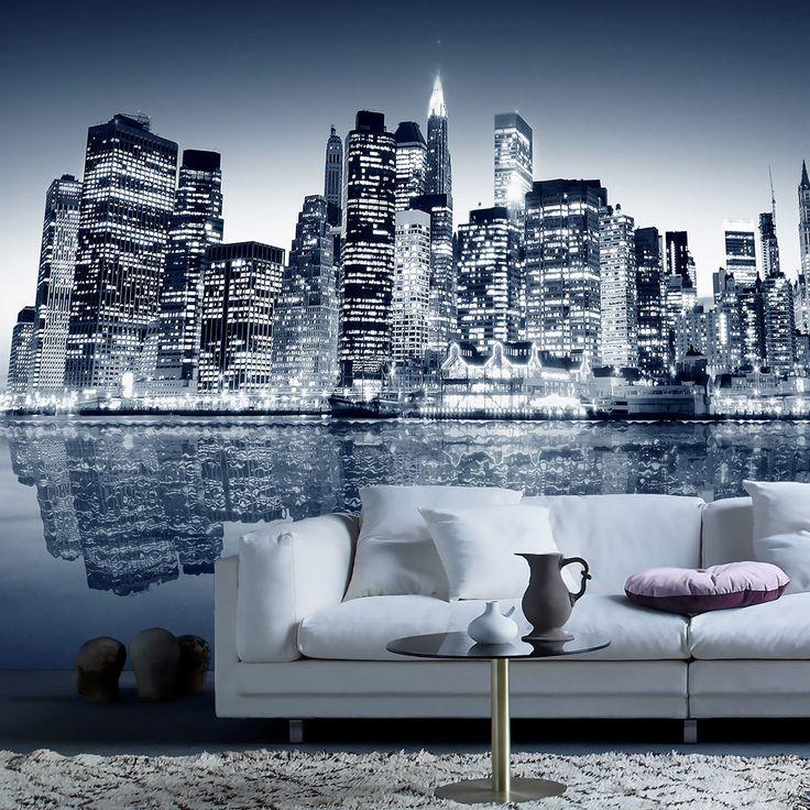 Blue Manhattan - FOTOMURALES Vinilos Decorativos: Señal Nueva York #decoracion #teleadhesivo #nuevayork #nueva #york