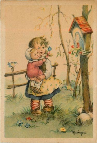 Mariapia Franzoni vintage illustration