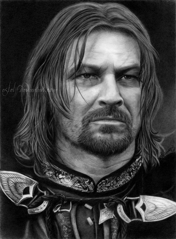 Portrait Drawing   Boromir