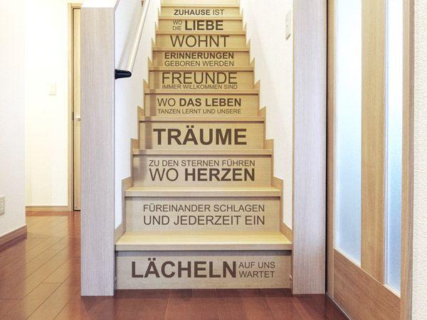 21 besten treppenstufen wandtattoos auf die treppe kleben bilder auf pinterest motive. Black Bedroom Furniture Sets. Home Design Ideas