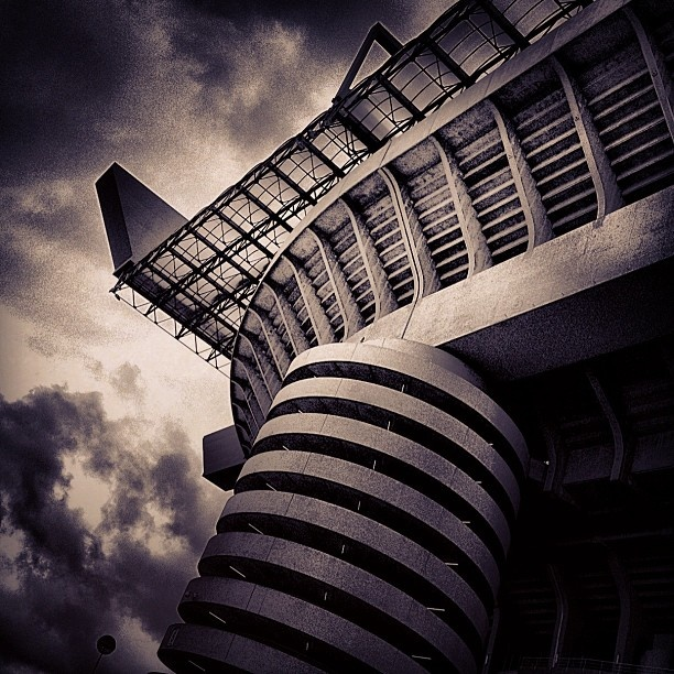 stadio San Siro Milano. Where we got engaged! Inter 0 - Milan 1