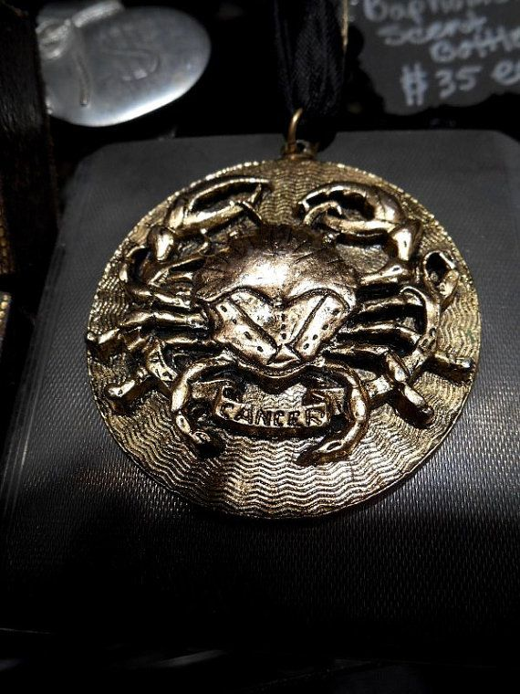 Zodiac Cancer Crab Pendant  Astrological by GothicRoseAntiques, $55.00