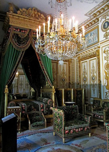 Napoleon Bonaparte Empire Imperial Neoclassicism (1804-1815) in one of The Napoleon's Residences in France