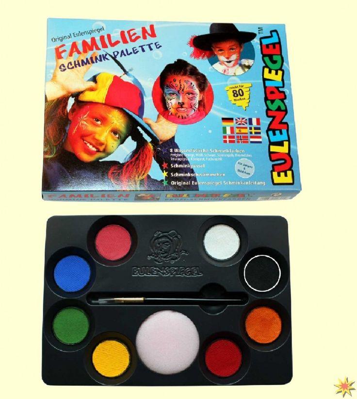Familien Schmink-Palette, Schminkkasten mit 8 Farben