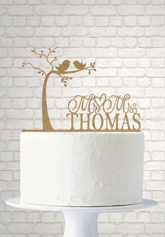Topo De Bolo Para O Casamento Rustic Tree TopperRustic Wedding Cake