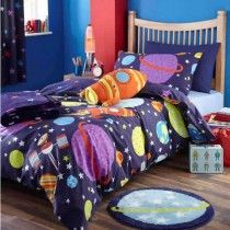 Outer Space Single Duvet Cover - Available now on Becky and Lolo