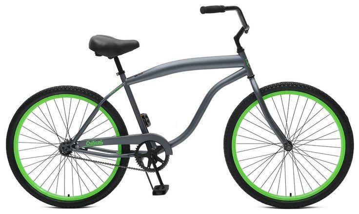 Men's 26 Inch Beach Cruiser Green Grayish  Single Speed Bicycle Free Shipping #CriticalCycles