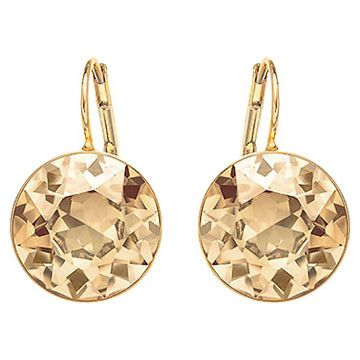 Warm honey shades radiate from this pair of gold-plated earrings. Bold and beautiful, the bezel-set Golden Shadow crystal casts a charming and... Shop now