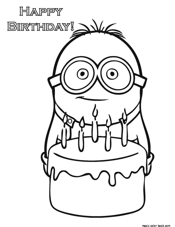 Minion Coloring Pages Print Online Boys Popular