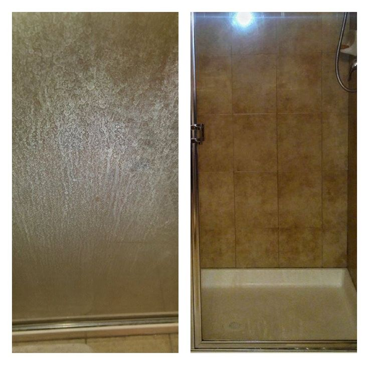 before and after using h2o at homes limescale remover and