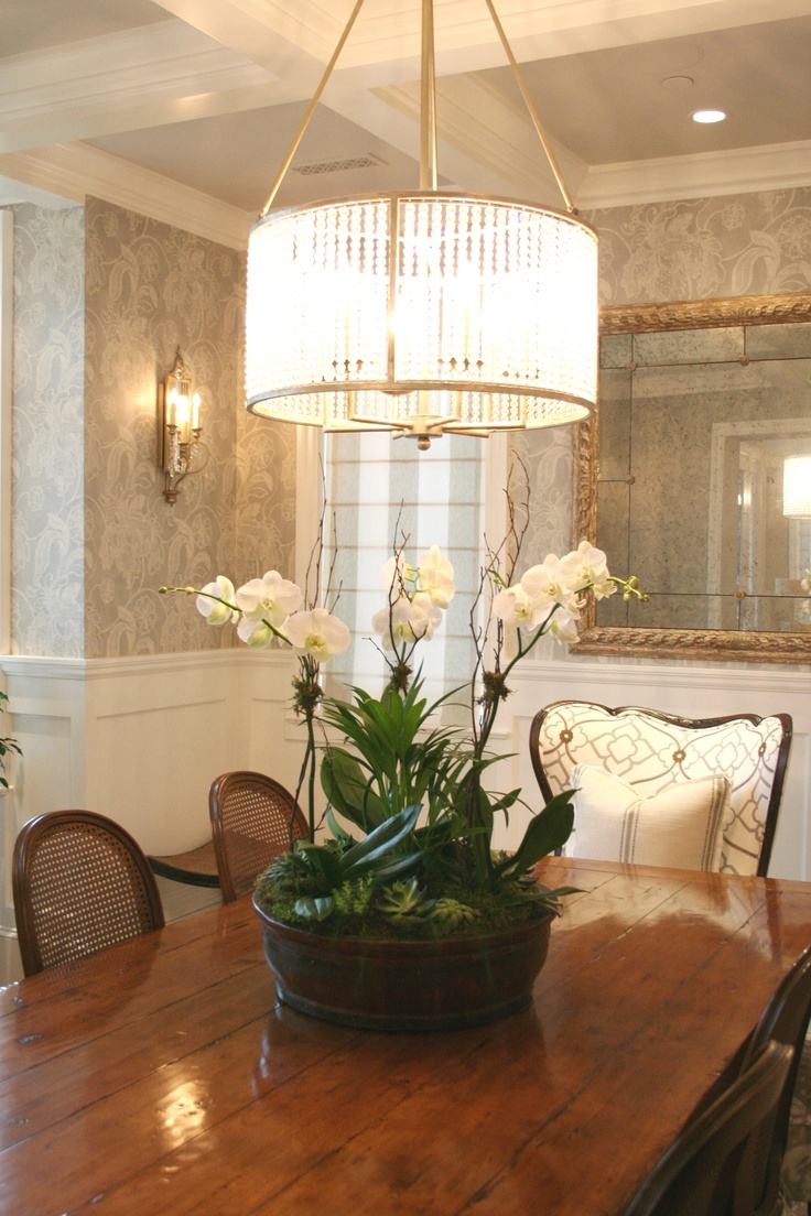 Pretty dining room nhht details pinterest beautiful for Beautiful dining room chandeliers