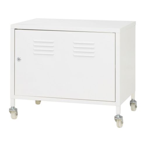 IKEA PS Cabinet on casters IKEA Lockable for safe storage of your private things. Adjustable shelf; adjust according to need. $49.99 - record player stand and record holder?