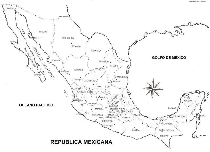 Mapa de México Orográfico, hidrográfico con / sin nombres - CGsign Blog de Diseño