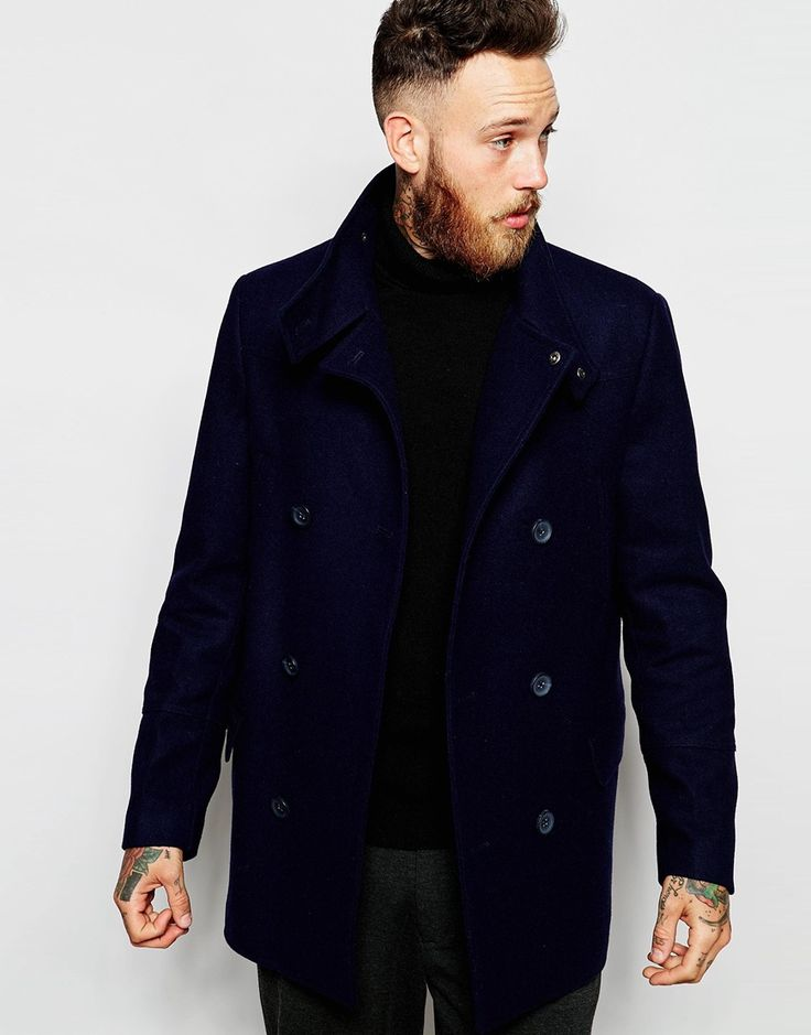 Look stunning with this  ASOS Wool Peacoat With Funnel Neck In Navy - Navy - http://www.fashionshop.net.au/shop/asos/asos-wool-peacoat-with-funnel-neck-in-navy-navy/ #ASOS, #ClothingAccessories, #Funnel, #In, #Male, #Mens, #MensJackets, #Navy, #Neck, #Peacoat, #With, #Wool #fashion #fashionshop