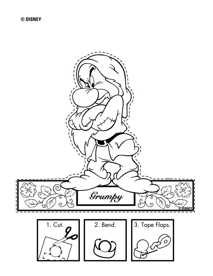 grumpy dwarf coloring pages - photo#31