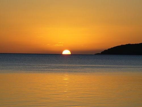 Sunset over Vanuatu