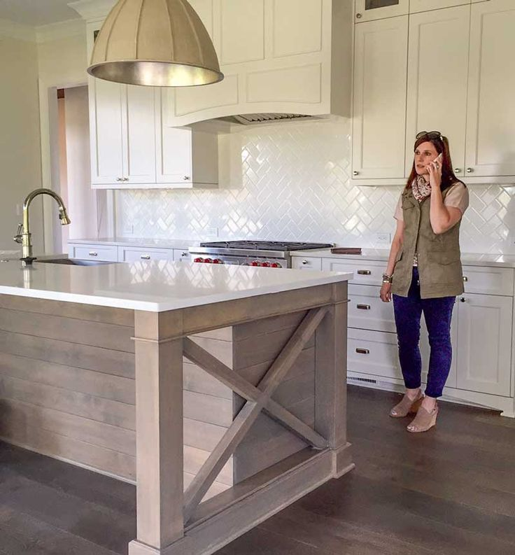 How to Make Earthy Tile Look Expensive | Maria Killam, #subwaytile #herringbone #kitchendesign, proudhomestaging.com