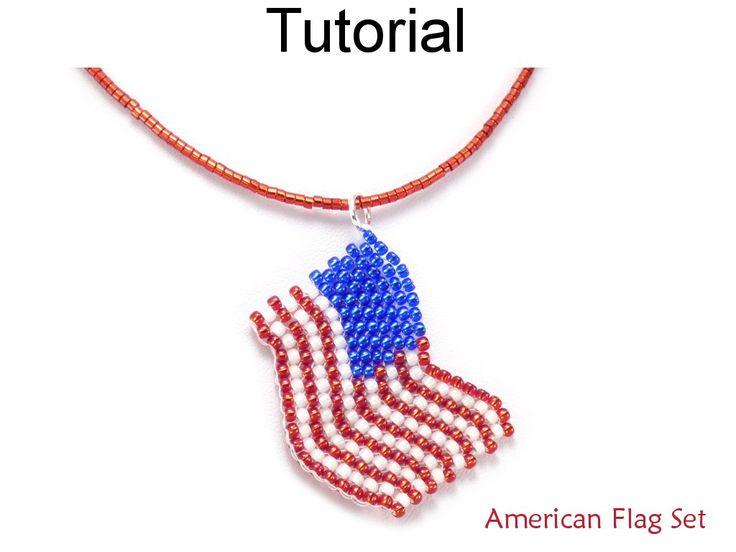 De 4305 b sta simple bead patterns bilderna p pinterest for Patriotic beaded jewelry patterns