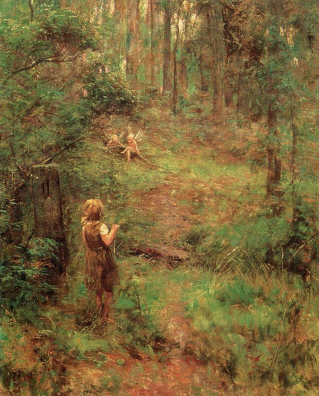 "Frederick McCubbin (Australian,1855-1917), ""What the Little Girl Saw in the Bush"", 1904"