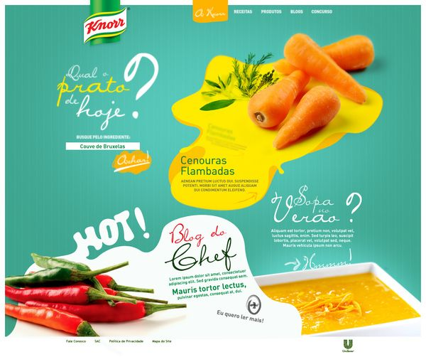 Knorr / Renato Forster / #turquoise #orange #vegetables #background