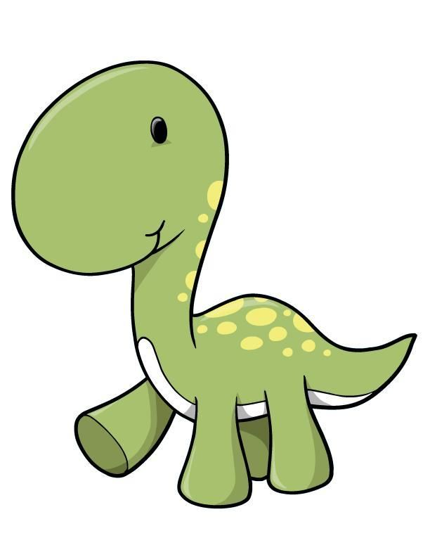 Green Longneck Baby Dinosaur Wall Decal Baby Animal Drawings Dinosaur Drawing Baby Dinosaurs