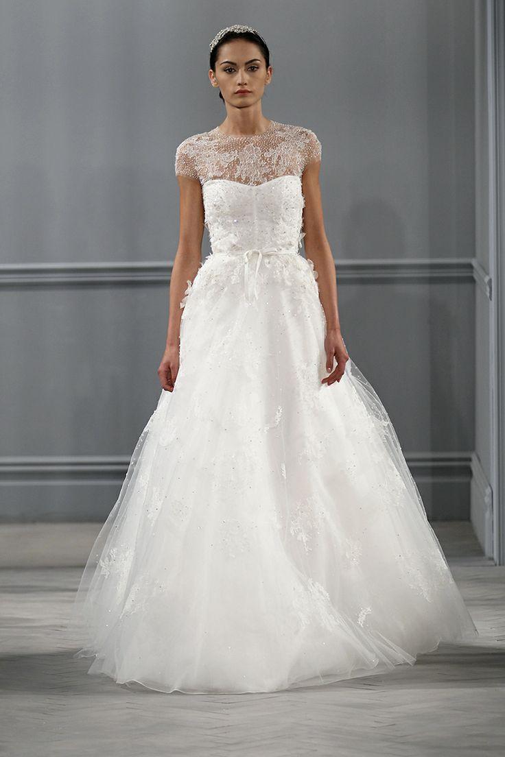 This Monique Lhuillier wedding gown screams romance
