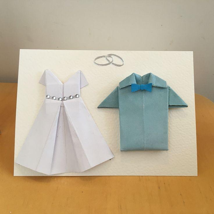 Kortti hääparille. Origami.