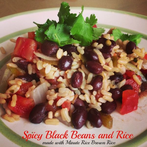 Spicy Black Beans and Rice Recipe made with Minute Ready to Serve Brown Rice via www.jmanandmillerbug.com. #LoveEveryMinute