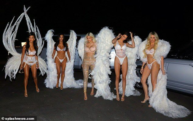 Irmas Kardashian Halloween 2020 PIC EXC: Kylie Jenner and Khloe Kardashian become angels for