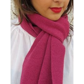 Knitted Scarf - Magenta