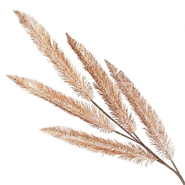 Copper Glitter Feather Spray