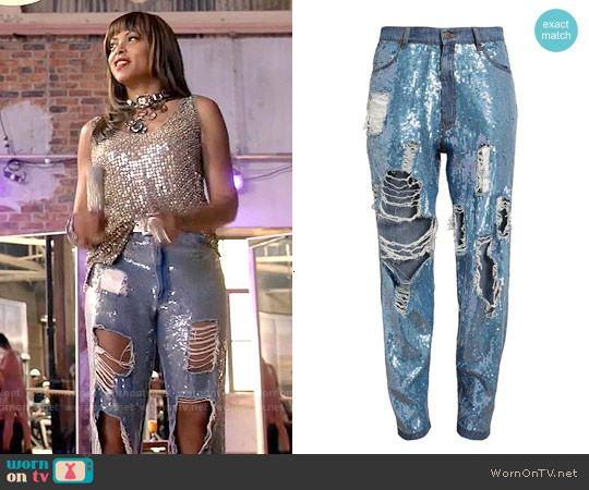 704d498f593 Cookie s sequinned jeans and tank top on Empire in 2019