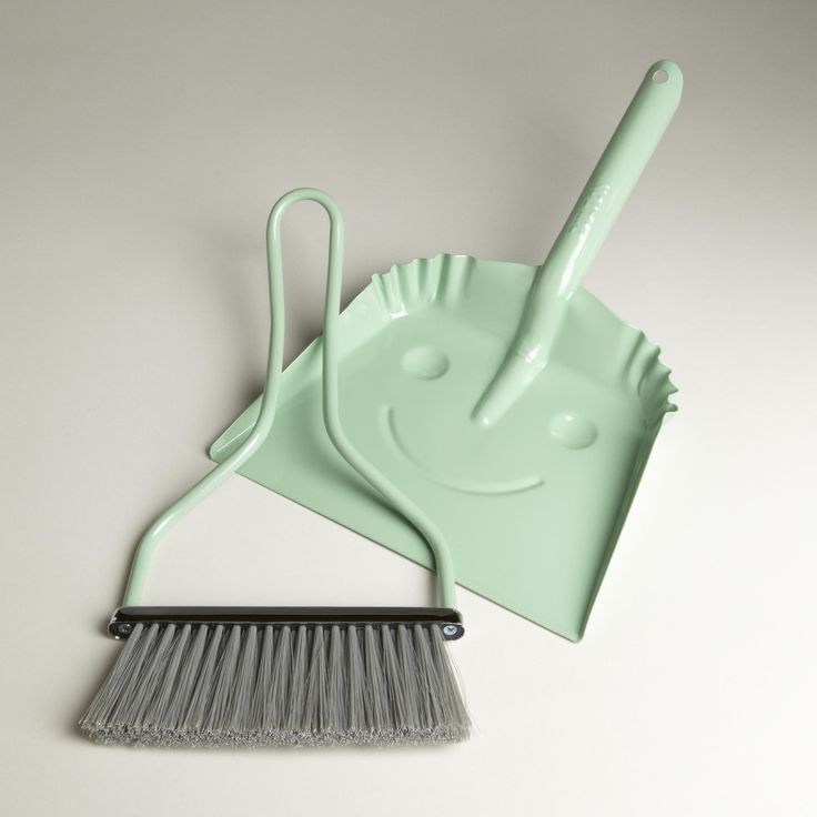 """Mint Smiley Dustpan, worldmarket: At 8.5""""wide, this is meant for small jobs but would be great for teaching kids whole life skills and practicing hand-eye coordination. #Dustpan"""